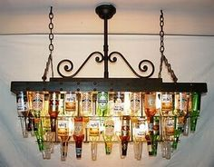BEER BOTTLES -- this would be awesome in a basement man cave with a bar and pool table!