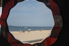 Virginia Beach through a mirror