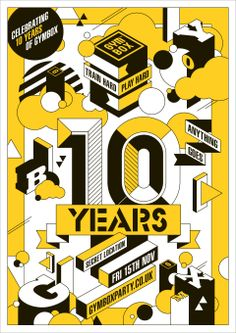 Design and illustration for London gym Gymbox 10 Year birthday event