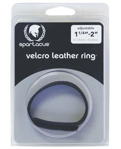 Leather Sewn Velcro Cock Ring - Black