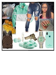 """"""""""" by makaelahangelah ❤ liked on Polyvore featuring Kate Spade, Rolex, Hollister Co., WithChic, Puma, Eos, Lancôme and Louis Vuitton"""