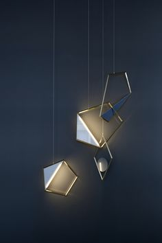 Tangle, a sculptural pendant light, looks like modern pendant jewelry.