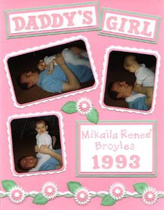 """New Baby Girl Scrapbook Layouts 
