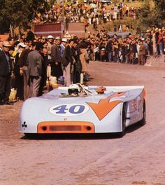 """Total hero car for me. Bitter/sweet pic because with the crowd so close to 300kph prototypes it's easy to see why the Targa events were made extinct."" KB Porsche 908 at Targa Florio"