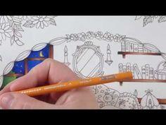 Romantic country - tutorial part 1 - prismacolor pencils - YouTube