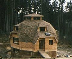 dome home kits: riser walls and extensions Casa Octagonal, Dome Home Kits, Earth Bag Homes, Geodesic Dome Homes, Dome House, Round House, Cabin Homes, Kit Homes, Architecture Plan