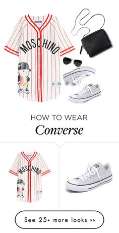"""Far from ordinary"" by gorgeous-stacy on Polyvore featuring Moschino, Converse and Ray-Ban"