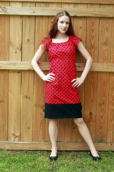 Red Pin Up Dress Retro Dress 1950's Style by SweetHomeBoutique, $80.00