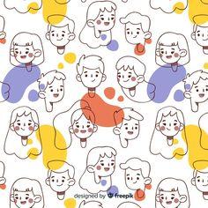 People everywhere, 50 best Free People pattern, People and Seamless graphics on Freepik People Illustration, Line Illustration, Character Illustration, Graphic Design Illustration, Vector Illustrations, Les Doodle, Doodle Art, Doodle People, Cute Doodles