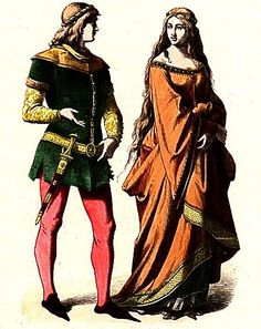 "14thC ""noble maiden"" from THE HISTORY OF COSTUME By Braun & Schneider - c.1861-1880 #sca"