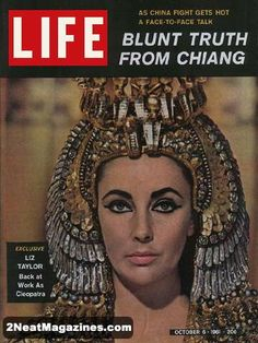 Life Magazine October 6, 1961 : Cover - Liz Taylor, back at work as Cleopatra