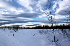 Crossing the strip of land above the airfield. Look at the clouds! Northwest Territories, North West, Canada, Clouds, Mountains, Nature, Pictures, Travel, Outdoor