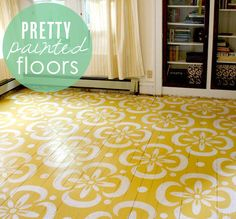Pretty ideas for painted floors from Babble.com