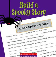 Kids can practice reading and writing with this fun Halloween game.
