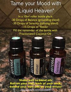 Liquid heaven mood tamer. Essential oils for anger, frustration, etc.