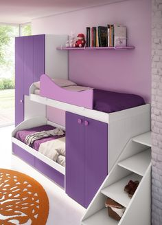 LOFT WOODEN BEDROOM SET FOR GIRLS CAPPUCCETTO ROSSO FIABA COLLECTION BY FAER AMBIENTI BY GRUPPO LUBE   DESIGN VITTORIO LANCIANI