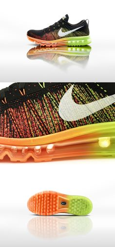 Nike Flynit Air Max. I'm not usually a colorful tennis shoe lover... but these are amazing.