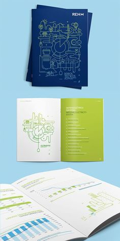 Fresh Simple Yet Beautiful Brochure Design Ideas & Awesome Templates [ILLUSTRATION] Great example of simple line art that is unique and artsy. [COLOR] Solid possibility of using vibrant gradient color for line-art imagery so it brings just a touch of Print Layout, Layout Design, Print Design, Design Design, Flyer Design, Template Brochure, Brochure Layout, Brochure Cover Design, Graphic Design Brochure