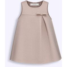 BABY DIOR - Pink and taupe double-sided cashmere dress African Dresses For Kids, Little Girl Dresses, Girls Dresses, Baby Girl Fashion, Kids Fashion, Fashion Sewing, Womens Fashion, Kids Dress Wear, Dress Girl