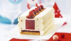 Bûche glacée façon cheesecake-framboise
