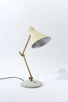 Italian 1950s Adjustable Table Lamp
