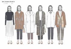 Fashion Sketchbook - fashion illustrations; line up; fashion student portfolio // Katherine Bridges