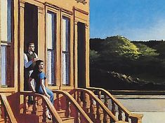 HOPPER Sunlight on Brownstones - 1956.