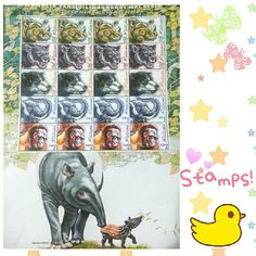 Just got these from a small post office nearby my office. I think it's an old stamp series in late 90s or early 2000s. I was surprised they have these there! I think my dad had the miniature sheets of these series but I have no idea where he keeps his collections. :( #stamps #malaysianstamps #philately #animals #illustration #tapir #orangutan #elephant #panther #rhino #mail #mailaysia  #malaysia