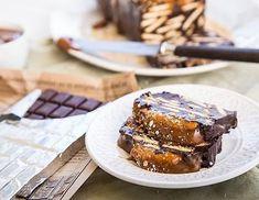 Κορμός σοκολάτας με καραμέλα & φυστικοβούτυρο