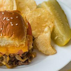 Cheeseburger Slider Caserole