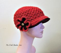 Ladies Newsboy Hat Beanie, Cozy Crochet Women's Hat,  Detachable Flower Clip, Soft Chunky Tweed Wool Blend, Warm, Ladies Hat, Gift for Her, by pinoakstudiotoo on Etsy