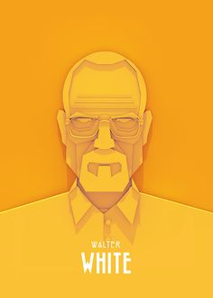 Polish designer Ariel Ratajczak created some unique illustrations of his favourite TV characters, including Walter White from Breaking Bad, Tyrion Lannister from Game of Thrones… Graphic Design Illustration, Graphic Art, Illustration Art, Walter White, Breaking Bad, Grid Design, Design Art, Affinity Designer, 3d Prints