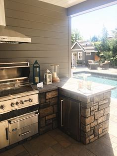 Street of Dreams - Built in BBQ by Pool.      SAVED BY WENDY SIMMONS