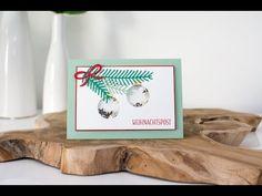 Weihnachtliche Schüttelkarte mit Stampin' Up! Tannen und Zapfen - YouTube