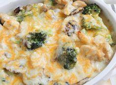 budin de pollo y brocoli