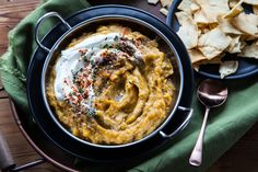 This acorn squash dip gets its flavor from caramelized onions and spices. It can be made vegan, too!