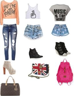 """pretty girl swag"" by tawana-be ❤ liked on Polyvore"
