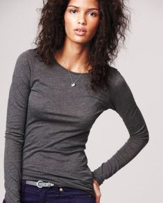 Long-Sleeve Crew by LA Made - I am in love with this shirt!