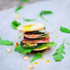 beet, zucchini & apple salad