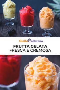 La frutta gelata è un dessert semplice e rinfrescante, perfetto da assaporare in qualsiasi momento della giornata, per gustare in purezza tutto il sapore della frutta. Preparata senza zucchero: solo tanta frutta estiva. #frutta #smoothie #granita #frullato #fragole #strawberry #melone #ananas #pineapple #frozen #frozenfruit #fruit #sugarfree #summer #sorbetto #dessert #lactosefree #glutenfree #vegan #veggie #giallozafferano [Easy frozen fruit sugar free]