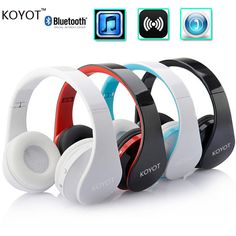 2016 KOYOT Hot Sale Stereo Music Headset Headphone with Mic Handband Foldable Wireless Music Bluetooth Earphone-in Earphones & Headphones from Consumer Electronics on Aliexpress.com | Alibaba Group