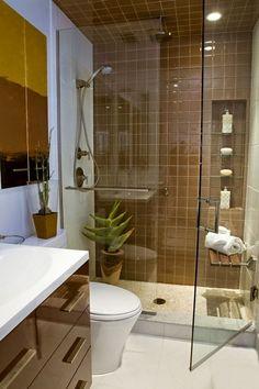baño moderno pequeño #bañospequeños