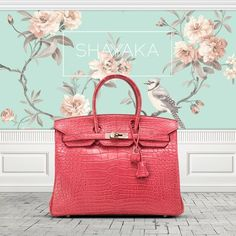Hermès Birkin in in Bois de Rose Crocodile Matte Leather and Palladium Hardware | Size 35 cm | Available Now  For purchase inquiries, please contact sales@shayyaka.com or +961 71 594 777 (SMS, WhatsApp, or iMessage) or Direct Message on Instagram (@Shayyaka). Guaranteed 100% Authentic / Worldwide Shipping / Bank Transfer or Credit Card