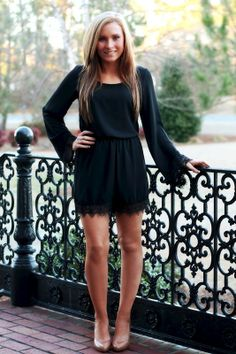 Love the classy look of this detailed romper!