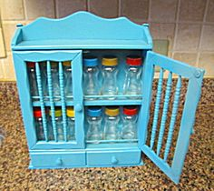 Retro recycled vintage spice rack and jars SOLD at More Than McCoy on ETSY!