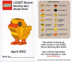 Easter chick Lego instructions