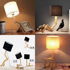 DIY Different Modeling Adjust LED Reading Light Desk Table Camping Bedside Lamp Home Light Decor Fold Wood Led Light(China (Mainland))