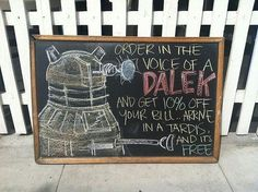 Dalek Discounts- I would so do this!