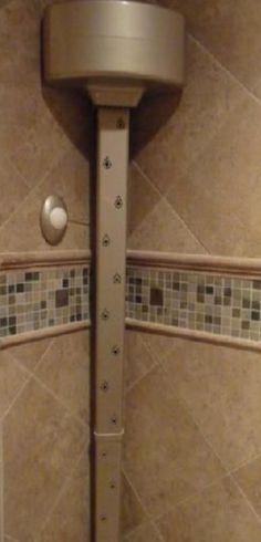In shower body drier.