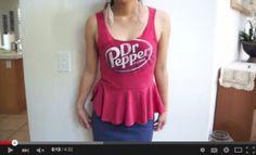 Turn a Boxy T-shirt into a Peplum Top!